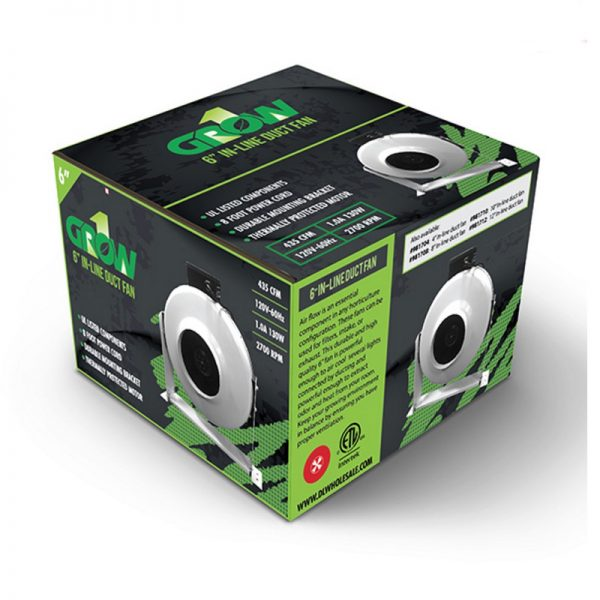 6 Inch High Output In-line Duct Fan Box