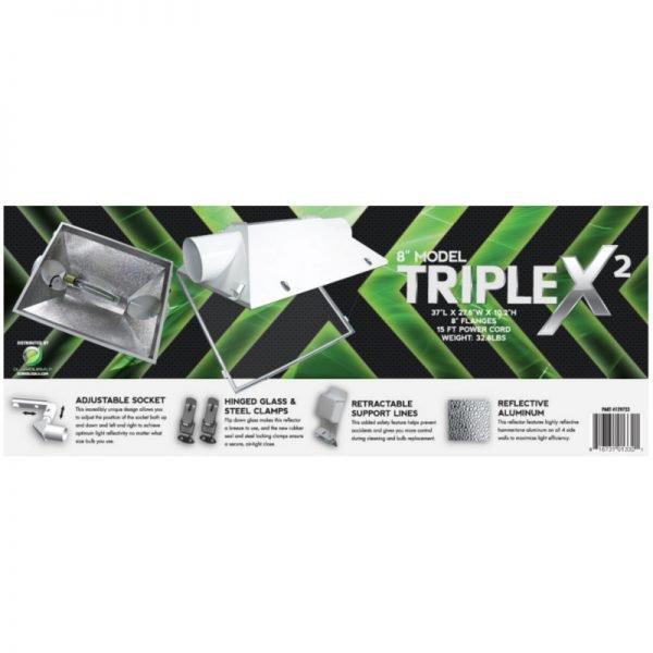 Triple X2 8in Reflector