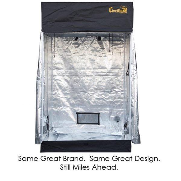 Gorilla-Grow-Tent-Lite-4x4-front-open