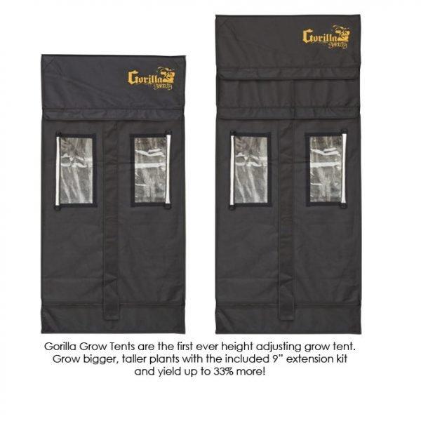 Gorilla-Grow-Tent-Shorty-2x2.5-Adjustment