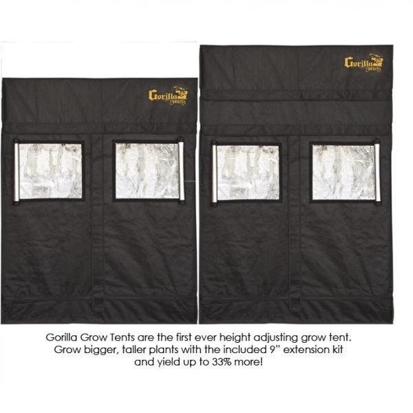 Gorilla-Grow-Tent-Shorty-2x4-Adjustment