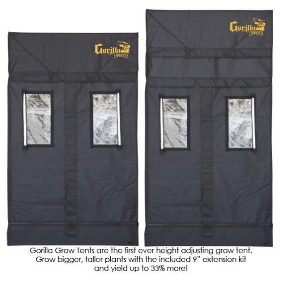 Gorilla-Grow-Tent-Shorty-3x3-Adjustments