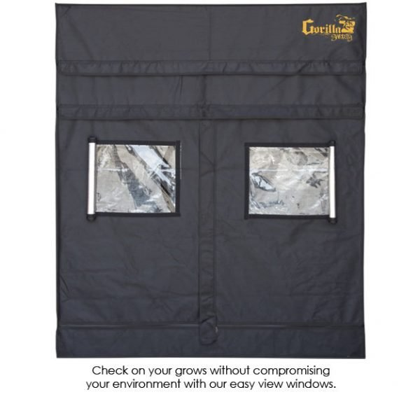 Gorilla-Grow-Tent-Shorty-5x5-Viewing-Windows