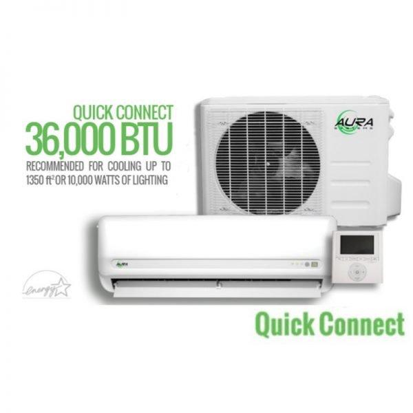 Aura Systems Quick Connect Mini Split AC Unit 36000 BTU