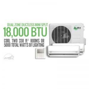 Aura Systems Dual Mini Split 18000 BTU