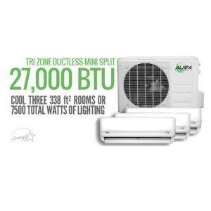 Aura Systems TRI Mini Split 27000 BTU