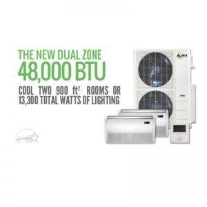 Aura Systems Dual Mini Split 48000 BTU