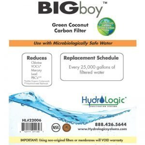 HydroLogic Big Boy Carbon Filter Promo