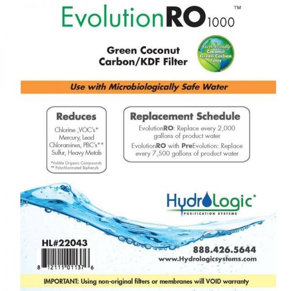 HydroLogic Evo KDF85 Filter Promo