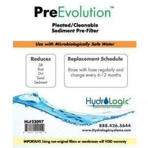HydroLogic Pre Evolution Sediment Filter Promo