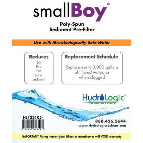 HydroLogic Small Boy Sediment Filter Promo