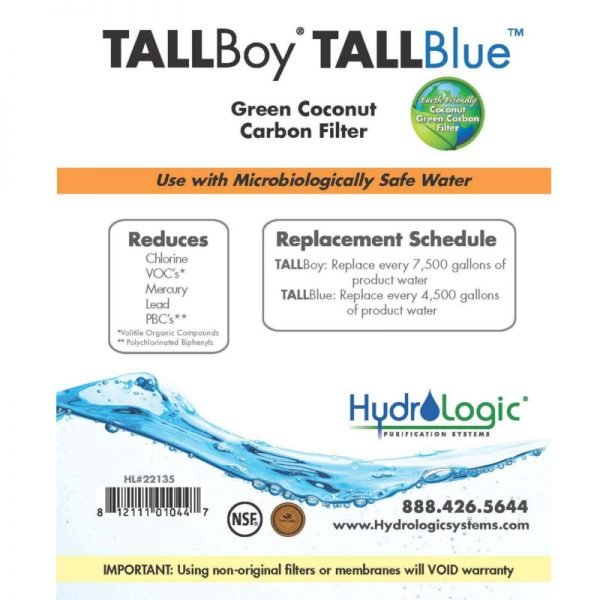 HydroLogic Tall Boy Carbon Filter Promo
