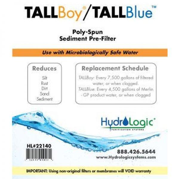 HydroLogic Tall Boy Sediment Filter Promo