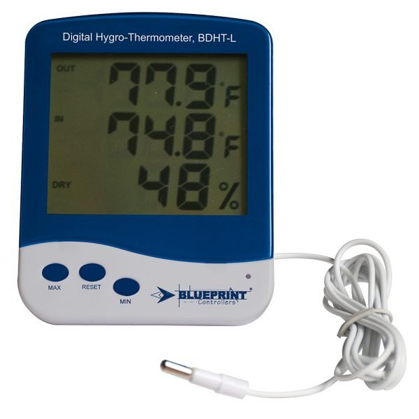 Blueprint Controllers Digital Hygro-Thermometer Large, BDHT-L